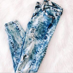 VIP Jeans Distressed 80s Wash Denim